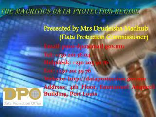 The  Mauritius  Data Protection  Regime