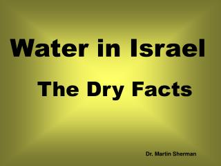 Water in Israel