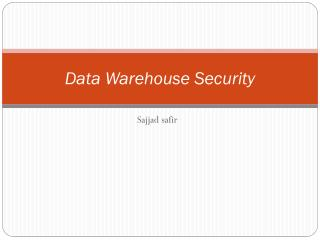 Data Warehouse Security