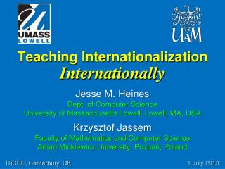 Teaching Internationalization Internationally