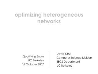 optimizing heterogeneous networks