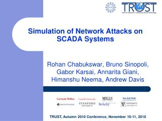 Simulation of Network Attacks on SCADA Systems