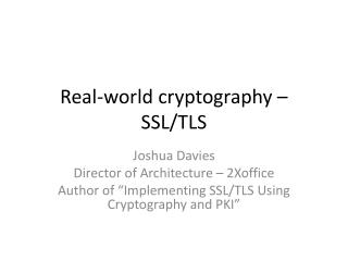 Real-world cryptography – SSL/TLS