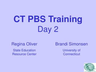 CT PBS Training Day 2