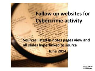 Follow up websites for Cybercrime activity