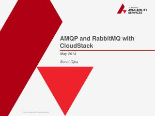 AMQP and  RabbitMQ  with  CloudStack