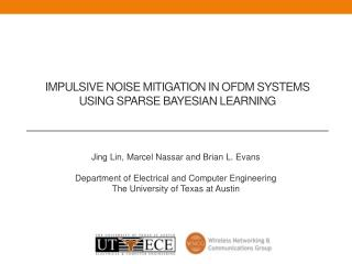 Impulsive noise mitigation in OFDM systems using  sparse  bayesian  learning