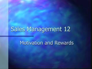 Sales Management 12
