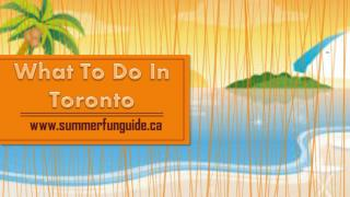 What To Do In Toronto