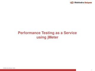 Performance Testing  as a Service  using  jMeter