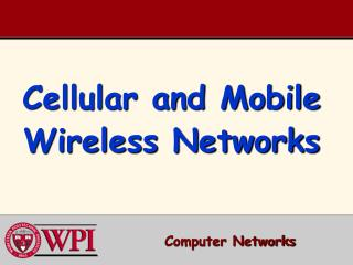 Cellular and Mobile Wireless Networks