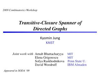 Transitive-Closure  Spanner of   Directed Graphs