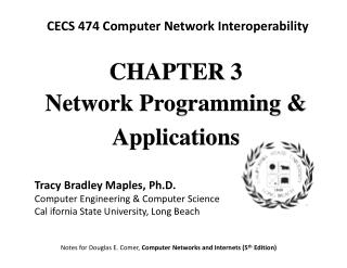 CHAPTE R 3 Network Programming & Applications