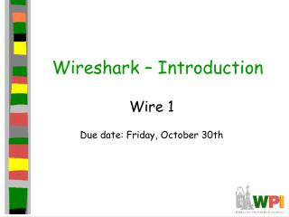 Wireshark  – Introduction