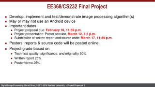EE368/CS232 Final Project