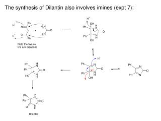 The synthesis of Dilantin also involves imines (expt 7):