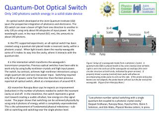 Quantum-Dot Optical Switch  Only  140 photons switch energy  in  a solid-state device