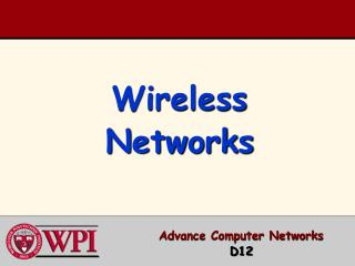 Wireless Networks