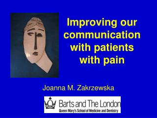 Improving our communication with patients  with pain