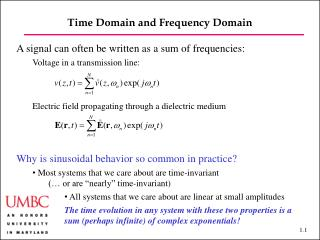 Time Domain and Frequency  Domain