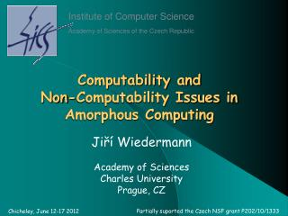 Computability and  Non-Computability Issues in Amorphous Computing