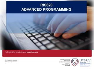 RIS620 Advanced programming
