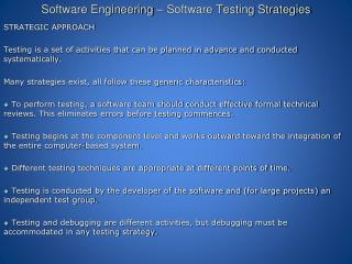 Software Engineering – Software Testing Strategies