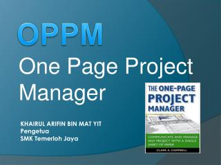 One Page Project Manager