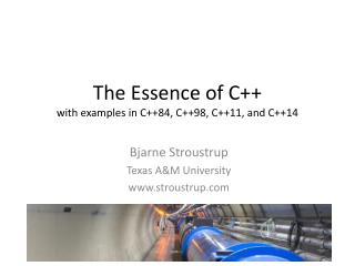 The Essence of C++ with examples in C++84, C++98, C++11, and C++14