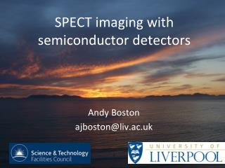 SPECT imaging with semiconductor detectors