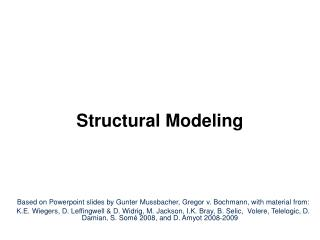 Structural Modeling