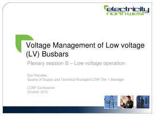 Voltage Management  of Low voltage (LV)  Busbars