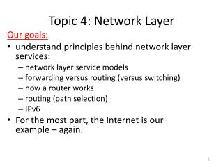 Topic 4 :  Network Layer