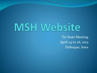 MSH Website
