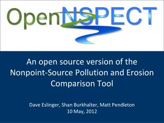 An open source version of the Nonpoint-Source Pollution and Erosion Comparison Tool