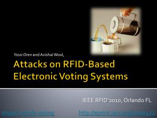 Attacks on RFID-Based Electronic Voting Systems