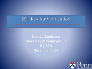 SSH Key Authentication