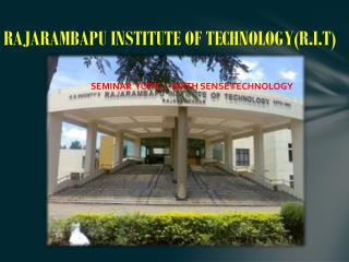 RAJARAMBAPU INSTITUTE OF TECHNOLOGY(R.I.T)