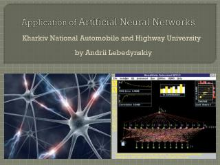 Application of  Artificial Neural Networks