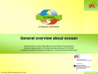 General overview about ecosan