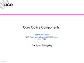 Core Optics Components
