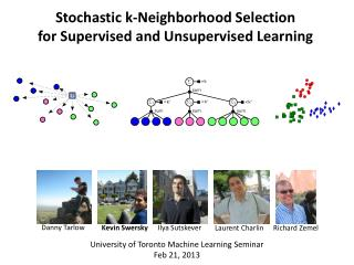 Stochastic k- Neighborhood Selection  for Supervised and Unsupervised Learning