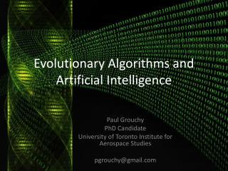 Evolutionary Algorithms and Artificial Intelligence