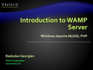 Introduction to WAMP Server