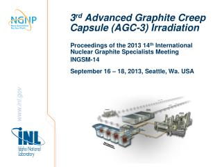 3 rd  Advanced Graphite Creep Capsule (AGC-3) Irradiation