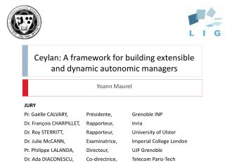 Ceylan: A framework for building extensible and  dynamic autonomic  managers