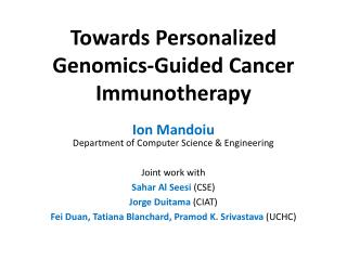 Towards Personalized Genomics-Guided Cancer Immunotherapy