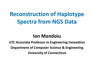Reconstruction of Haplotype Spectra from  NGS  Data