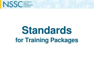 Standards for Training Packages
