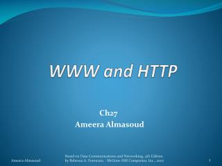 WWW and HTTP